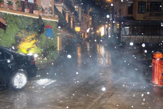 Từng bông tuyết nhẹ rơi